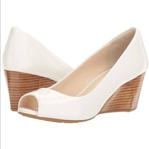 """Just In! Cole Haan """"Sadie"""" Patent Leather Wedges"""